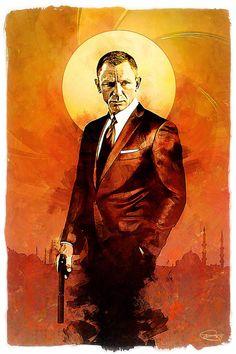 Daniel Craig as Bond. Daniel Craig James Bond, Thème James Bond, James Bond Style, James Bond Theme, James Bond Movie Posters, James Bond Movies, Movie Poster Art, Splash Art, Carros Lamborghini