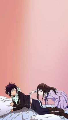 Checking for blight. That's all she's doing. Noragami XD