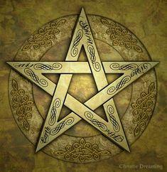 Elements Pentagram / Pentacle by chrome-dreaming on DeviantArt