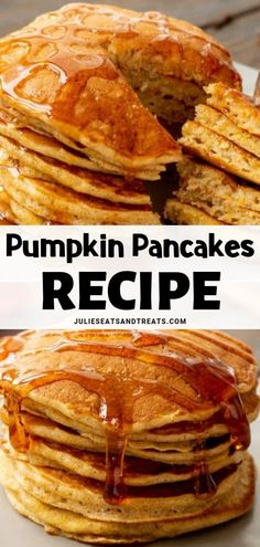 These Pumpkin Pancakes are the perfect healthy pumpkin pancakes recipe for fall! Light and fluffy pancake that you can't resist. Serve them for a quick weekday breakfast or on Thanksgiving for brunch! Easy Holiday Recipes, Thanksgiving Recipes, Fall Recipes, Real Food Recipes, Budget Recipes, Budget Meals, Holiday Ideas, Make Ahead Breakfast Casserole, Fall Breakfast