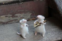 Needle felted  Romantic mice by nataliiapro on Etsy, $100.00