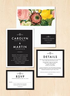 Modern Elegant Wedding Invitation by QuiteFetchingInvites, Etsy
