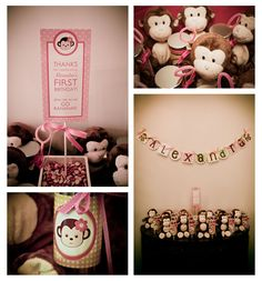 Mod Monkey Theme Birthday Party |