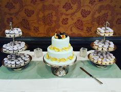 A gorgeous fig topped wedding cake