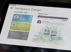 Dynamics CRM Windows 8 app running on Microsoft Surface