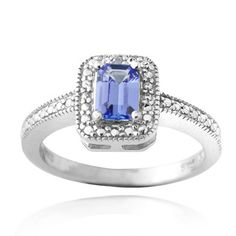 Shop for Glitzy Rocks Glitzy Rocks Sterling Silver Blue Tanzanite and Diamond Accent Ring. Get free delivery at Overstock.com - Your Online Jewelry Destination! Get 5% in rewards with Club O!