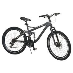 Mongoose® Men's Detour Full Suspension Mountain Bicycle - @Academy Sports + Outdoors Sports + Outdoors