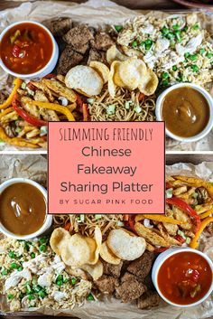 Chinese fakeaway recipe, salt and pepper chips, curry sauce, chicken balls and egg fried rice. Salt And Chilli Chips, Salt And Chilli Chicken, Sweet Sour Chicken, Sweet Chilli Sauce, Slimming World Fakeaway, Easy Slimming World Recipes, My Slimming World, Chinese Fakeaway, Pink Foods
