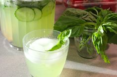 It's officially spring, and you're baking in the Saturday heat after a long week. What sounds more refreshing than a cucumber and herb-based alcoholic cocktail? Answer: two cucumber and herb-based … Alcoholic Cocktails, Spring Time, Allrecipes, Glass Of Milk, Basil, Cucumber, Herbs, Kitchen, Food