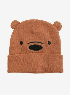 d1c14590f91 We Bare Bears Grizzly Bear Cosplay Watchman Beanie. HotTopic. Shop for the  ...