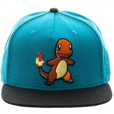 0443f9c88bb19 Official Nintendo s Pokemon Charmander Blue Colour Block Snapback Cap  (New). Spike Dabomb