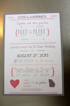 The Feather & Arrows Modern Wedding Invitation Set by hivehoney, $10.00  Not huge on the feathers/arrow but I think it's cute.