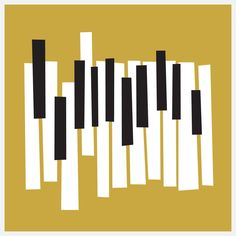 Modern Piano Keys Yellow By A Micah Smith