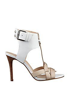 Gorgeous dress sandals from Guess.  Wear with crisp, summer suit or casual shorts.  #shoes #sandals #womensfashion2014