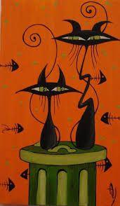 Resultado de imagen de dibujos gatos graciosos