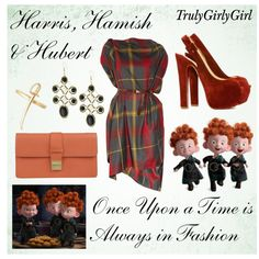 Disney Style: Harris, Hamish & Hubert by trulygirlygirl on Polyvore featuring Vivienne Westwood Anglomania, Dsquared2, Andara, Bing Bang, hubert, hamish, triplets, disney, harris and brave