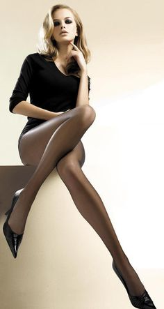 How can you not want to slip into a sheer pair of hose and have your legs look this good?!?