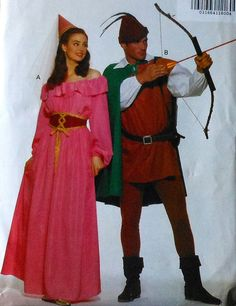 Robin Hood and Maid Marian Costume Sewing Pattern