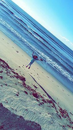 My sister, Rebekah, at the beach