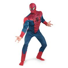 Spiderman Costume Movie Homecoming with Muscles for Adults Halloween Cosplay //Price: $79.99 & FREE Shipping //     #marvellegends