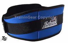 "Schiek Lifting Belt 2006 6"" Neon Yellow Black Red Blue Fitness Gym Workout"