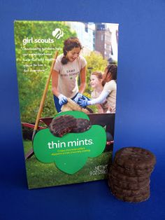 VEGAN!!! Girl Scouts Thin Mints. Best ever. Now to get my hands on some!