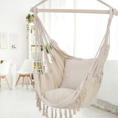 Cute Bedroom Decor, Room Ideas Bedroom, Cute Bedroom Ideas For Teens, Girls Bedroom Decorating, Bedroom Ideas For Small Rooms Cozy, Teen Bedroom Designs, Teen Room Decor, Cozy Room, Swinging Chair