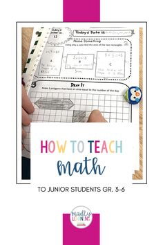 How to teach Math to junior students, grade 3-6. Inquiry Based Learning, Teaching Math, The Draw, Number Sense, Grade 3, Problem Solving, Students, Teacher, Classroom