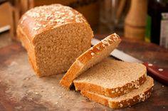 pão de mingau de aveia e farinha integral