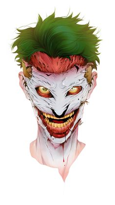 "The Joker from ""Death of the family"" by Ricardo Cohen, via Behance O Joker, Joker Death, Joker Dc Comics, Arte Dc Comics, Joker Art, Joker And Harley Quinn, Comic Book Villains, Best Villains, Jokers Wild"