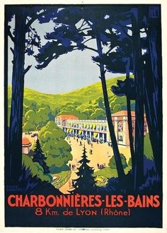 Roger Broders (1883-1953): Charbonnieres les Bains 1927