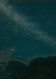 "Adam Elsheimer ;  ""The utter silence of the untranslated stars.""    -e.e. cummings, excerpt from 'Summer Silence'"