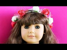 How to Make an American Girl flower crown - Easy Doll Crafts - YouTube