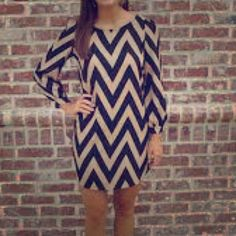 "Spotted while shopping on Poshmark: ""Karlie Black and Tan chevron tunic dress Medium""! #poshmark #fashion #shopping #style #Karlie #Dresses"