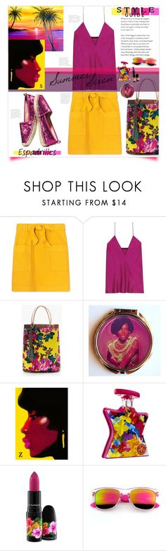 """Summer Siren"" by mmk2k ❤ liked on Polyvore featuring Jimmy Choo, Tory Burch, Haider Ackermann, J.Crew, Bond No. 9, MAC Cosmetics, ZeroUV, Summer, shoes and espadrilles"