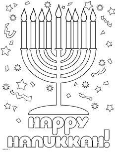 happy hanukkah coloring page classroom