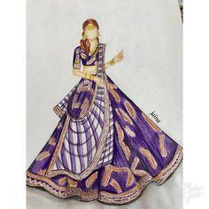 Fashion Illustration Sketches, Fashion Sketches, Dress Design Drawing, Sabyasachi Bride, Fashion Art, Fashion Design, Sketch Design, Curry Recipes, Draping