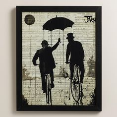"""Umbrella Bike"" by Loui Jover 