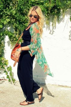 Maxi Dress with Kimono