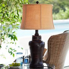$119  better brown color than rust.  Outdoor Tuscan Lamp - Brown