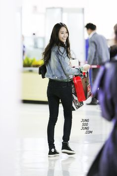 fx Krystal Airport Fashion Black Pants