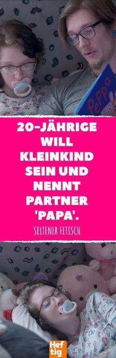 20-Jährige will Kleinkind sein und nennt Partner 'Papa'. #kindsein #skurril #fetisch #baby #kind # kleinkind