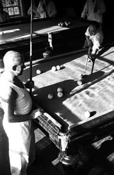 Billiards, 1939. Voroshilov Red Army Health Retreat. Sochi, Krasnodar region