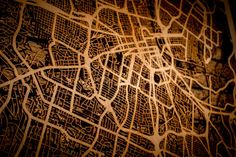 36 Major City Maps 24x36 Poster-sized Wood cutout of