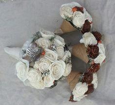 brooch bouquet   DIY bouquets,boutineers,fauxquet,wrist corsage,brooch sola tapioca ...