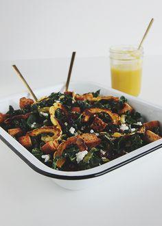 Squash Kale Autumn Salad