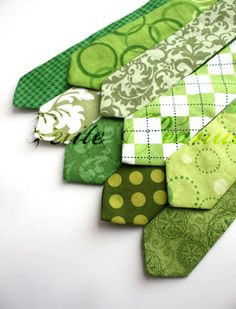 Love the variety of green ties - how cute would it be to have your ring bearer in one of these? Etsy Thursday: St. Patrick's Day Wedding