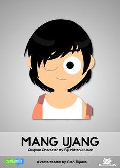 """MANG UJANG"", original character by Fuji Miftahul Ulum. #VectorDoodle by Glen Tripollo"