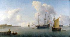 (1647) Willem Hermansz. van Diest:  Zicht op de rede van Fort Rammekens bij Vlissingen