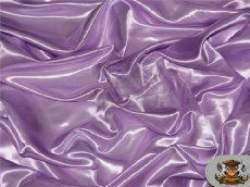 """Satin Charmeuse Solid Fabric LAVENDER / 60"""" Wide / Sold by the yard"""